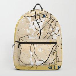 Girona Yellow City Map Backpack