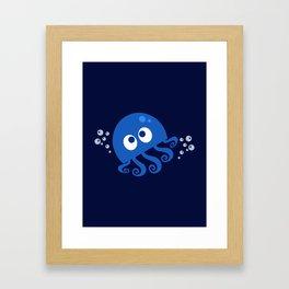 Bubbly Octopus Framed Art Print