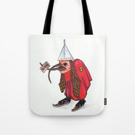 Bird With Letter Tote Bag