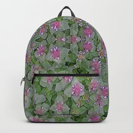 WILD SALVIA MAUVE AND GRAY GREEN Backpack