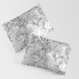 Pittsburgh White Map Pillow Sham