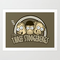 The Three Stoogebergs Art Print
