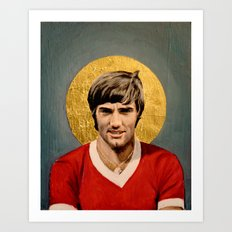 George B.est Football Icon Art Print