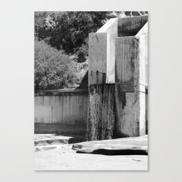 Runoff Waterfall Canvas Print