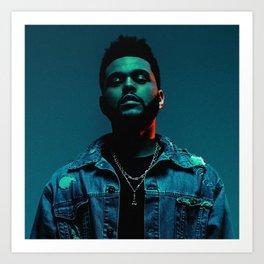 Portrait of the.Weeknd Art Print