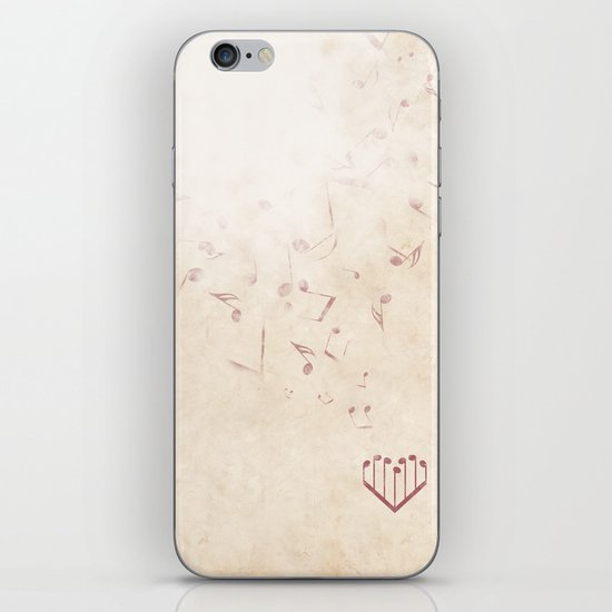 Music Heart old paper iPhone & iPod Skin