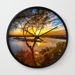 Wallpaper Texas USA Lake Travis Nature Sky Scenery Wall Clock