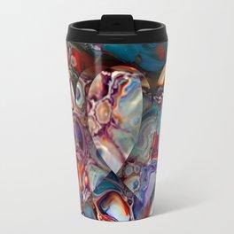 Bright Vibrant Fluid Hearts Design - Colorful Fluid Cells Travel Mug