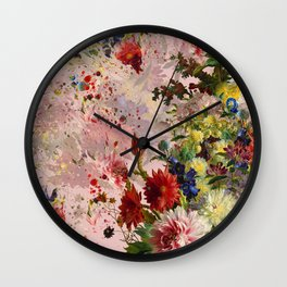 oil flower Wall Clock