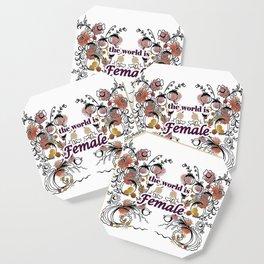 letterings purple Coaster