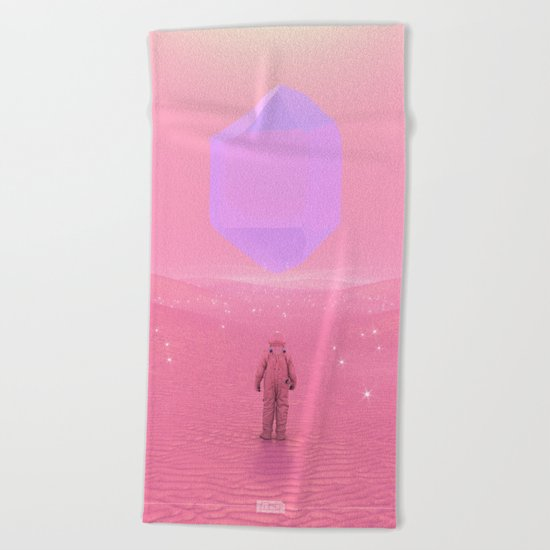 Lost Astronaut Series #03 - Floating Crystal Beach Towel