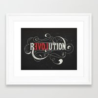 revolution Framed Art Prints featuring Revolution by Mobe13