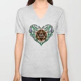 Elvish Heart T Shirt Unisex V-Neck