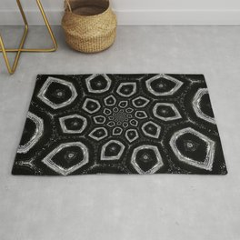 Black and White Spiral 09 Rug