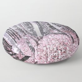 Magical Forest Pink Gray Elegance Floor Pillow