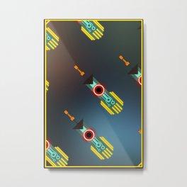 Transistor Swords Metal Print