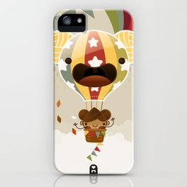 Chestnut Girl Balloon!!! iPhone Case