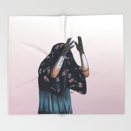Floral Ghost Throw Blanket