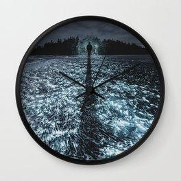 On Crystal Lake Wall Clock