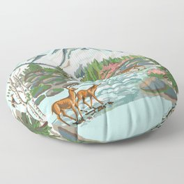 Paint by Number Mountain Medow Floor Pillow