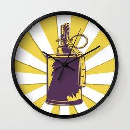 old grenade Wall Clock