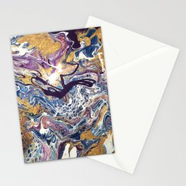 Purple and Gold Mix Stationery Cards
