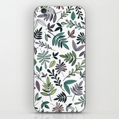 Black Border Leaves  iPhone & iPod Skin