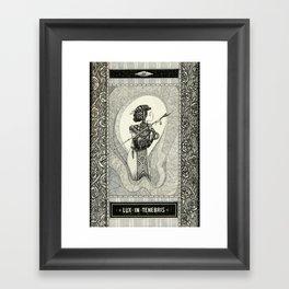 Lux in tenebris Framed Art Print