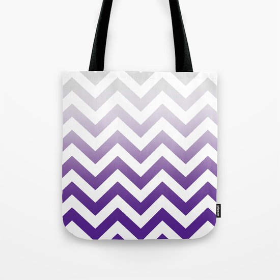 PURPLE FADE TO GREY CHEVRON by monikastrigel