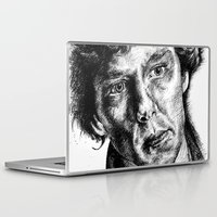 johnlock Laptop & iPad Skins featuring Sherlock by Amanda (Lemonlegs4)