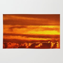 Sunset Layers   Ferntree Gully Rug