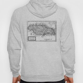 Vintage Map of Jamaica (1771) BW Hoody