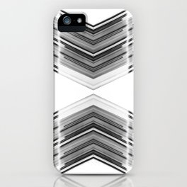 Innerspace - Black and White Minimal Geometric Art iPhone Case