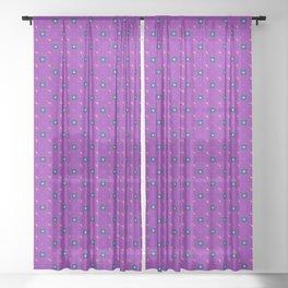 Uptown Ultraviolet Pattern Sheer Curtain