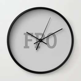 For Placement Only - FPO - Artwork (Grey) Wall Clock