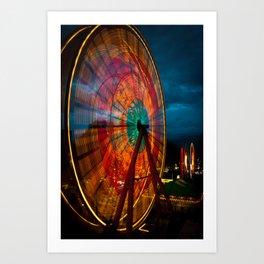 The Big Wheel Art Print