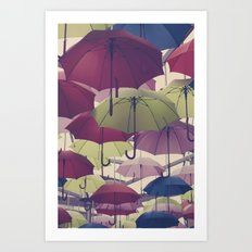 Why does it always rain on me? Art Print