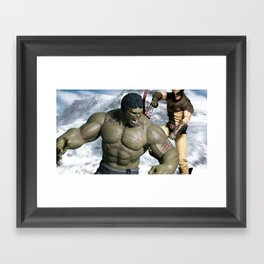 Hulk Vs (Logan) Framed Art Print