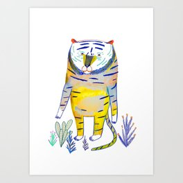 Tiger. tiger art, tiger decor, kids art, Art Print