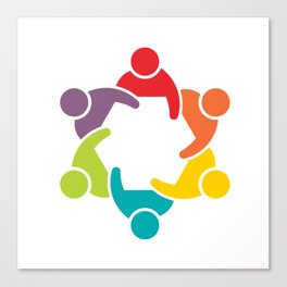 People Group in Meeting. Teamwork Concept Canvas Print