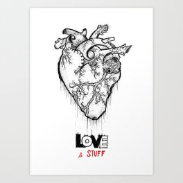 Heart Of Hearts: Outline & Stuff Art Print