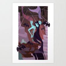 Cave Mermaid Art Print