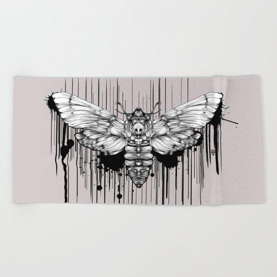 Ink Moth Beach Towel
