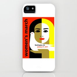Women's March On Washington 2017 iPhone Case
