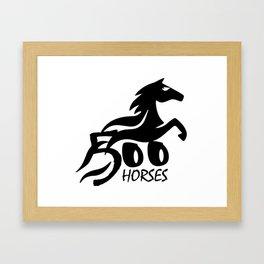 500 HORSES Framed Art Print