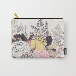 Miles and miles of rose garden. Retro floral pattern in vintag style Carry-All Pouch