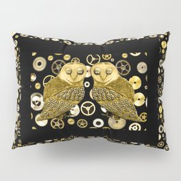 Cogs and Owls Pillow Sham