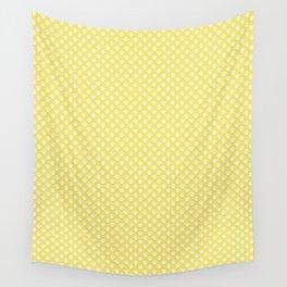 Tiny Paw Prints Lemon Yellow Pattern Wall Tapestry