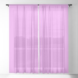 Spring - Pastel - Easter Purple Solid Color 2 Sheer Curtain