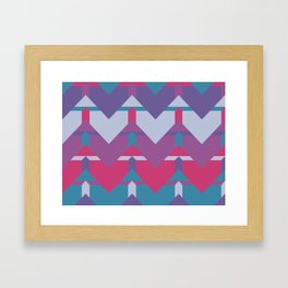 Cool Waves #society6 #violet #pattern Framed Art Print